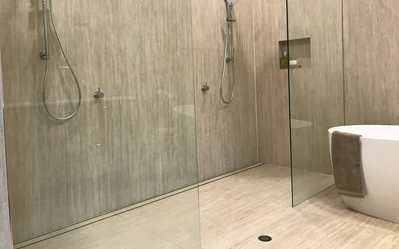 Invisible Shower Grate Drain